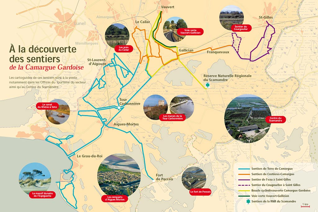 Sentiers Camargue Gardoise